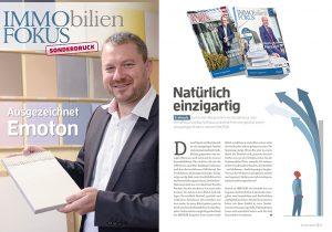 EMOTON, BauTecFokus, Presse, Presseveröffentlichung, Tonputz, wohngesund, Ton, Raumklima, GBB-Award